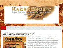 Tablet Preview of kaderemusic.ch